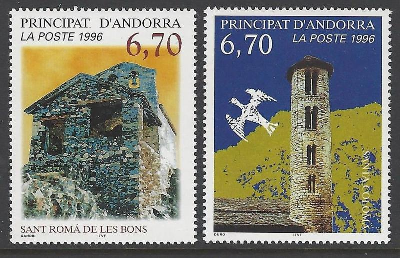 Andorra French 1996 Churches VF MNH (474-5)