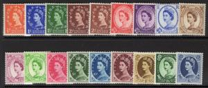 GB SG540/56 1955-8 ST.EDWARDS CROWN DEFINITIVE SET MNH