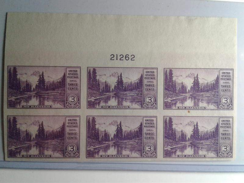 SCOTT # 758 PLATE BLOCK  6 IMPERFERATED VERY DESIRABLE MINT NEVER HINGED