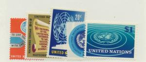 United Nations (New York) Scott #146 To 150 From 1965-66, Collectible Postage...