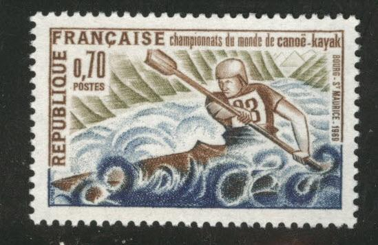 FRANCE Scott 1254 MNH** 1969 Kayak stamp