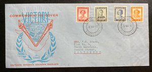 1947 Salisbury Southern Rhodesia Souvenir Cover  Victory Issue Locally Used