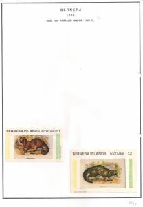 SCOTLAND - BERNERA - 1982 - Animals (21) - Min, D/L Sheets - MLH