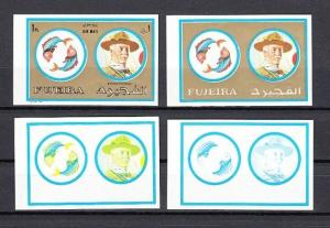 Fujeira, Mi cat. 1313 D. Baden Powell, Zodiac value as Color Proofs. *