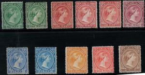 Falkland Islands 1891-1902 SC 9-18 Mint SCV $697.25 Set