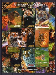 Fremasonry/Lions/Rotary/Tigers Malagasy Republic Sheetlet (9) IMPERFORATED MNH