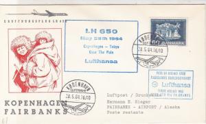 Denmark 1964 Copenhagen-Tokyo Over the Pole Lufthansa Stamps Cover Ref 26631