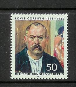 Germany Berlin 9N381 Set MNH Lovis Corinth Self Portrait (C)