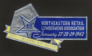 REKLAMEMARKE POSTER STAMP 48TH NORTHEASTERN RETAIL LUMBERMENS ASSOCIATION CONV