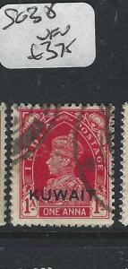 KUWAIT   (PP2704B) ON  INDIA KGVI  1 A  SG 37  VFU