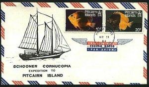 PITCAIRN 1984 cover - Schooner Cornucopia Expedition.......................93088
