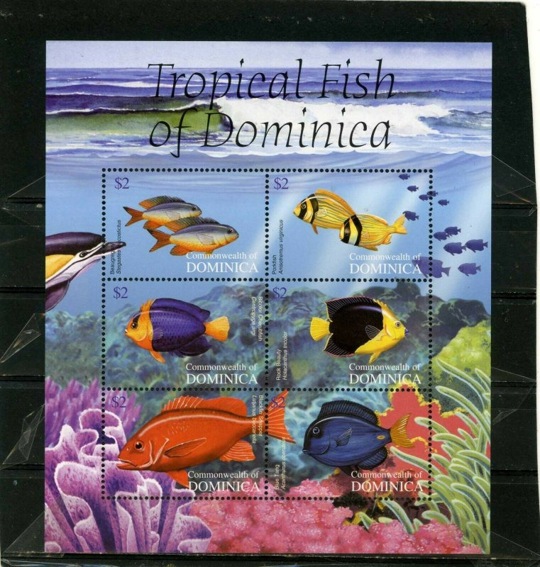 Dominica MNH S/S 2470 Tropical Fish 2004