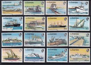 Gambia 1983 Scott 465-480 River Boats MNH