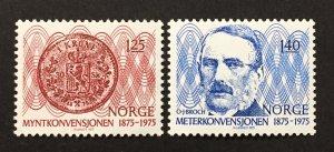 Norway 1975  #654-5, Monetary Convention, Unused/Mh.