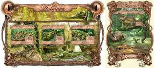 Guinea 2013 reptiles frogs klb+s/s MNH