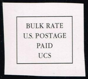 Bulk Rate Indicia Cut Square