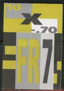 Switzerland Scott 872a MNH** Rabbit Booklet 1995 CV$12