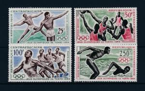 [61125] Central African Rep. 1964 Olympic games Rome Basketball Swimming MNH