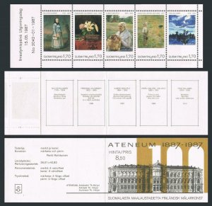 Finland 758 ae booklet,MNH.Michel 1023-1027 MH 18. National Art Museum,Ateneum.