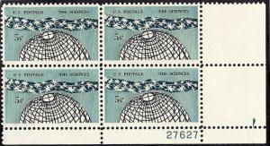 1237 Mint,OG,NH... Plate Block of 4... SCV $1.00