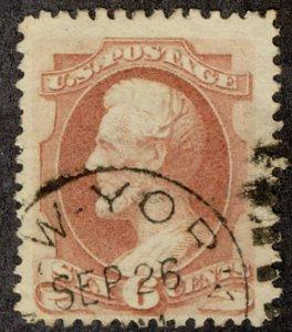 US #159 VF JUMBO, huge stamp, big and bold,  super nice and fresh!