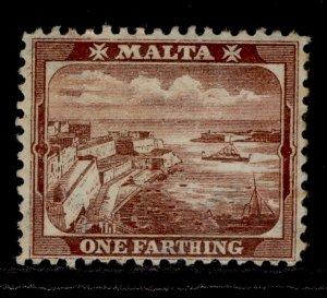 MALTA EDVII SG45, ¼d red-brown, M MINT.