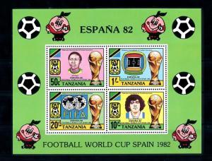 [46569] Tanzania 1982 Sports World Cup Soccer Football Diego Maradona MNH Sheet