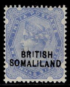 SOMALILAND PROTECTORATE EDVII SG18, 2½a ultramarine, M MINT.