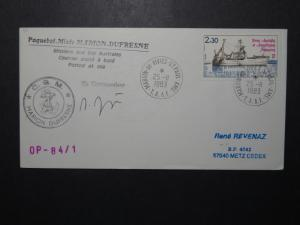 France TAAF 1983 CGM Marion Dufresne Cover / Signed - Z11117