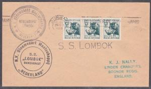 SOUTH AFRICA 1959 ship cover SS LOMBOK cachet................................735