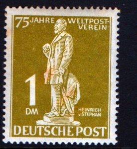 BERLIN  N40 MINT HINGED STATUE OF HEINRICH VON STEPHAN ISSUE 1949