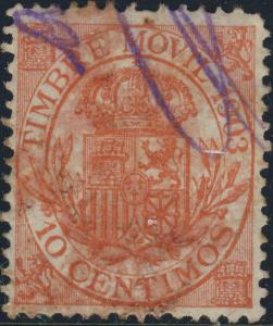 ESPAGN / SPAIN / ESPANA - 1903 TIMBRE MOVIL 10 Centimos rose-orange - Fine Used