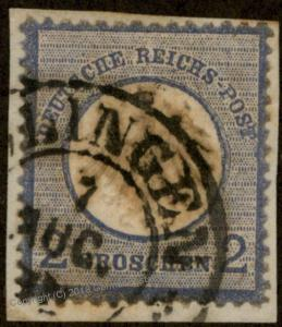 German Empire SOLINGEN Hufeisen Horseshoe Cancel Sm Eagle Brustschild Expe 85969