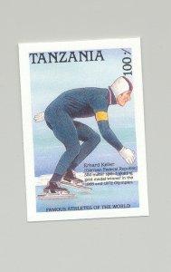 Tanzania #492 Speed Skating, Sports 1v Imperf Proof