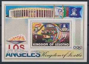 1984 Lesotho 474/B21 1984 Olympic Games in Los Angeles