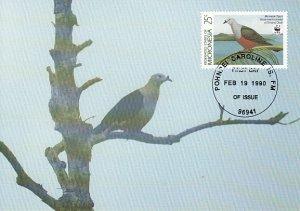 Micronesia 1990 Maxicard Sc #109 25c Micronesian pigeon WWF