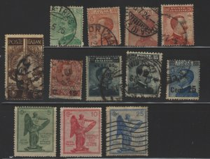 COLLECTION LOT 5396 ITALY 12 STAMPS 1905+ CV+$26