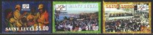 St Lucia. 2001. 1146-48. Jazz festival. MNH.