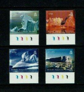 British Antarctic Territory: 2007, Icebergs,  MNH set