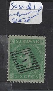 SARAWAK (P1209B) 6C LITHO  #1 IN DIAMOND CANCEL  VFU