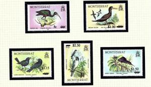 Montserrat 651-55 MNH 1987 Surcharges