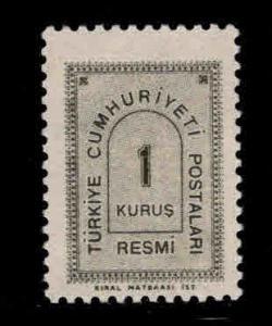TURKEY Scott o84 MNH**  officia