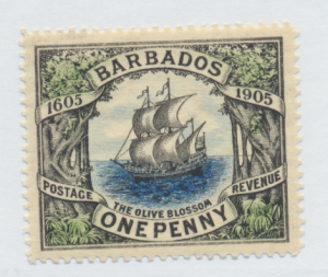 Barbados Stamp Scott #109, Mint Lightly Hinged, Good Centering - Free U.S. Sh...