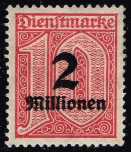 Germany #O38 Official - Surcharged Numeral; Unused (0.30)