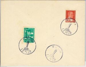 TURKEY Türkiye - POSTAL HISTORY: Stamps on COVER with SPECIAL POSTMARK 1954