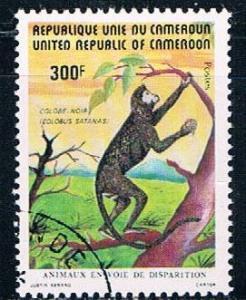 Cameroun 718 Used Black Colobus Monkey 1962 (C0258)+