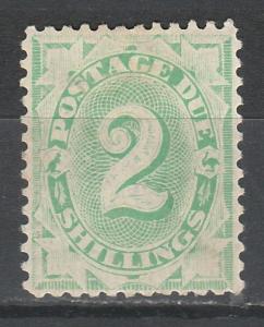 AUSTRALIA 1902 POSTAGE DUE 2/- WMK CROWN/NSW PERF 11.5