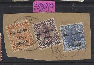 MALAYA JAPANESE OCCUPATION  (P2008BB) DN NS2C+PAHANG 10C+PERAK 15C PIECE VFU