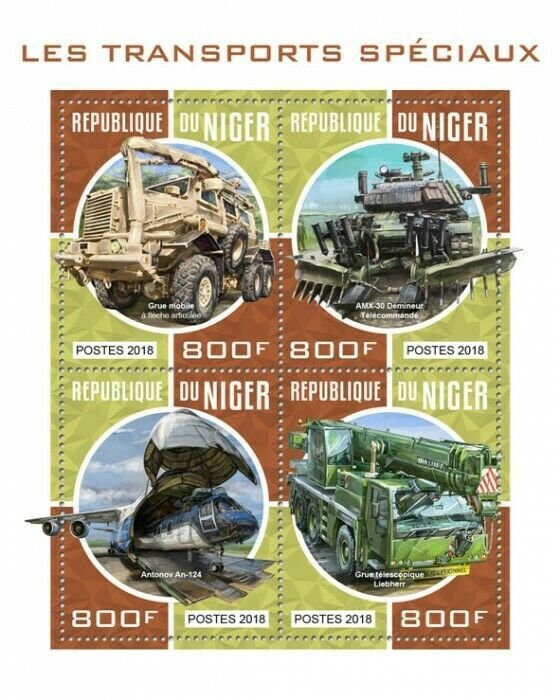 HERRICKSTAMP NEW ISSUES NIGER Special Transport Sheetlet