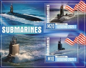 Stamps. Submarines Set 2 sheet perforated